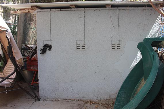מרפסות יפות לפני עיצוב בתל אביב קיר מחסן