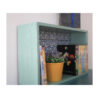 מרפסות יפות עיצוב מרפסת נישות עץ מלבן צבע ירוק