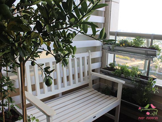 מרפסות יפות עיצוב מרפסת קטנה במגדלי תל אביב