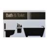 מרפסות יפות שלט מעוצב לאמבטיה ושירותים