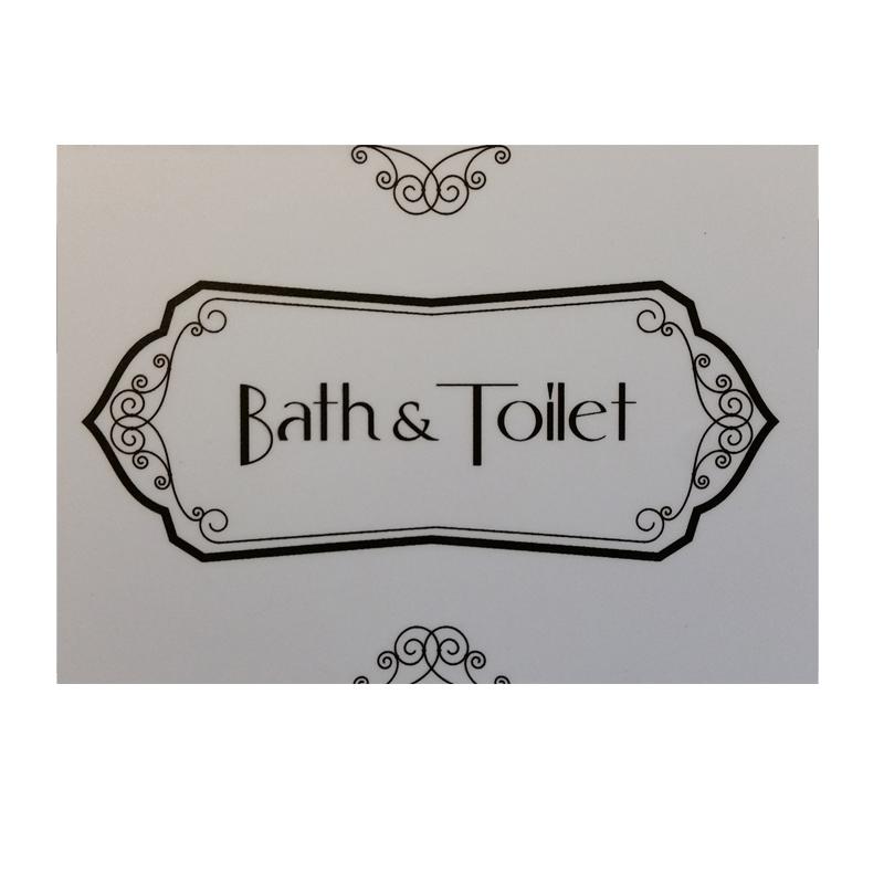 מרפסות יפות שלט עיצוב לאמבטיה ושירותים