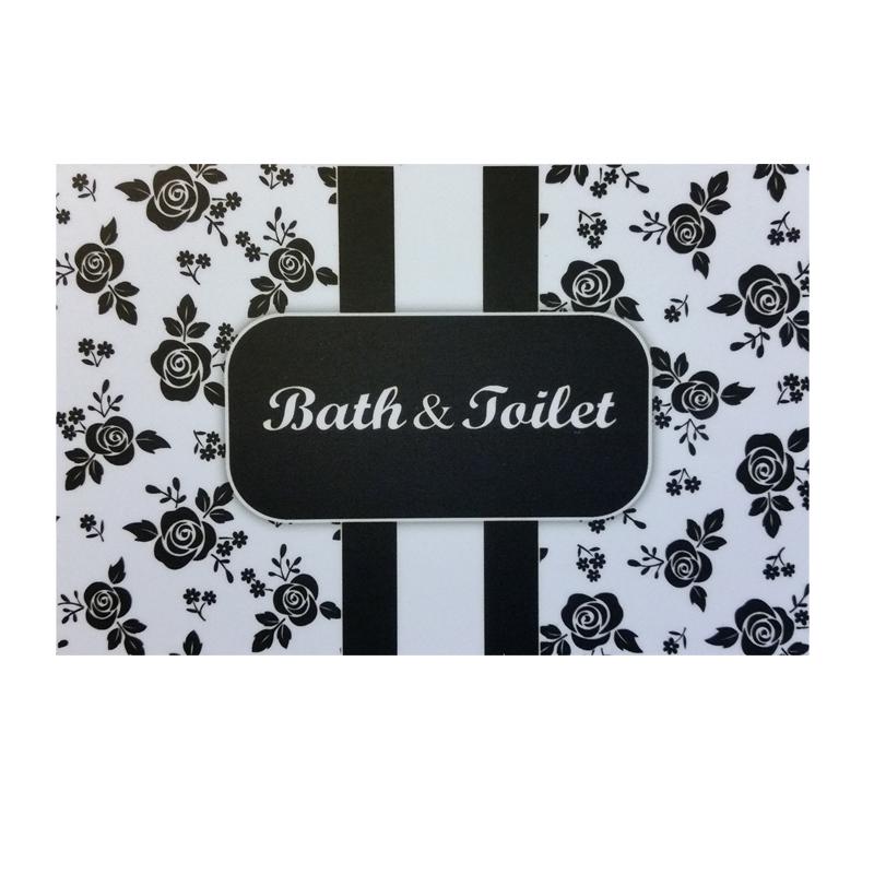 מרפסות יפות שלט שחור לבן לאמבטיה ושירותים