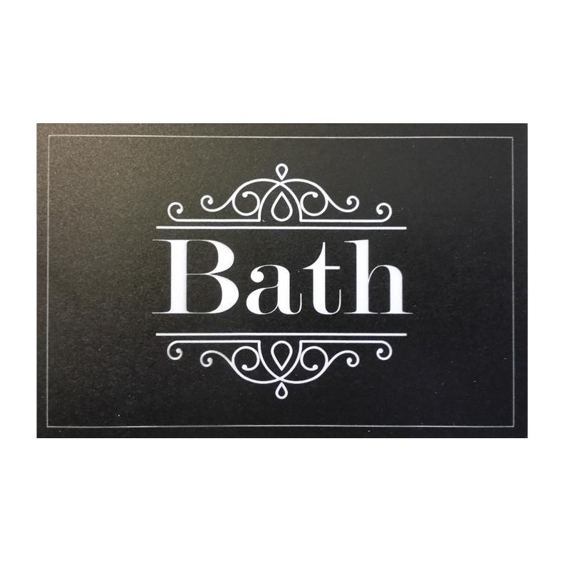 מרפסות יפות שלט עיצוב לחדר אמבטיה