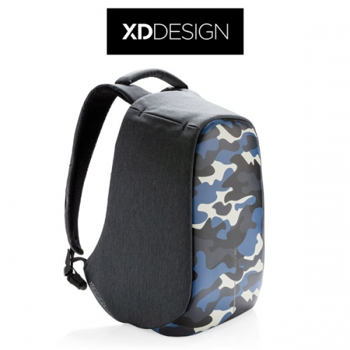 Bobby Compact Camouflage Blue