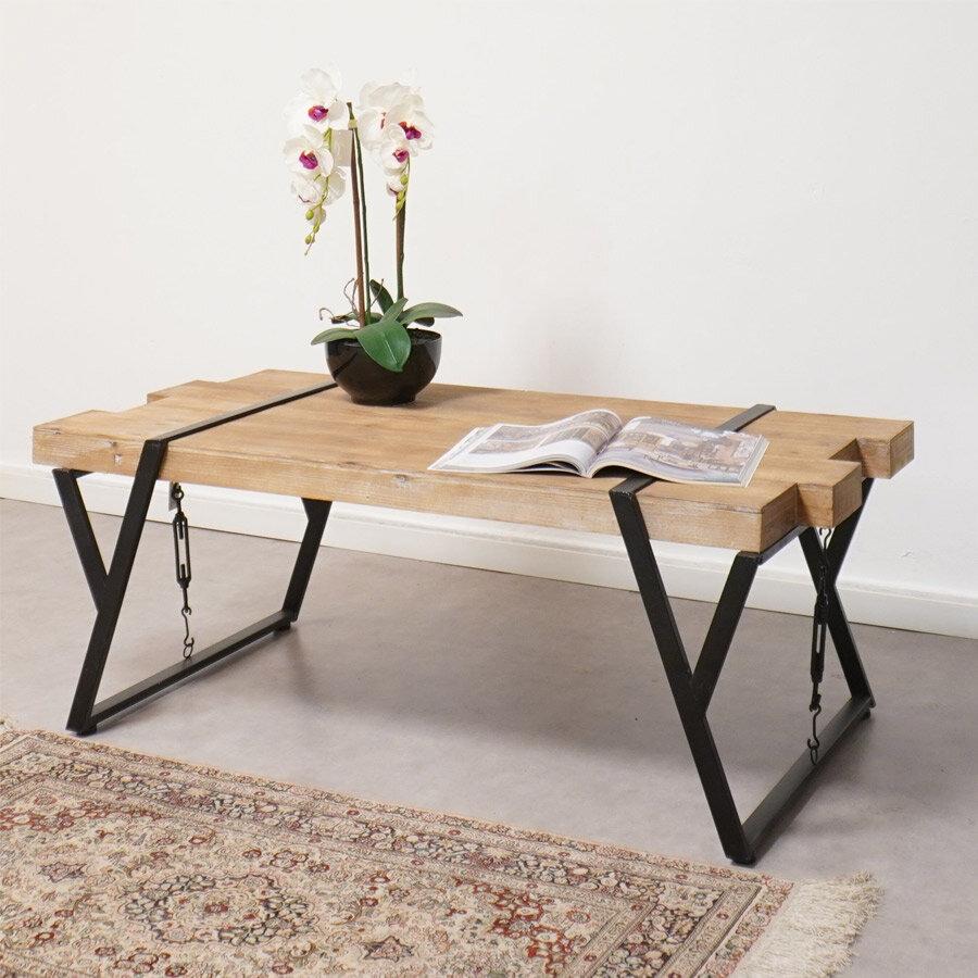 שולחן סלון עץ עם ברזל מרפסות יפות