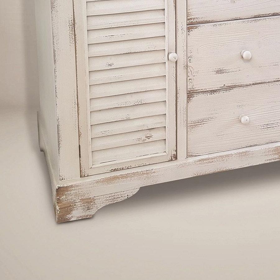 מזנון כפרי עץ לבן לעיצוב הבית