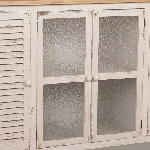 מזנון עץ מעוצב עם דלתות סבתא