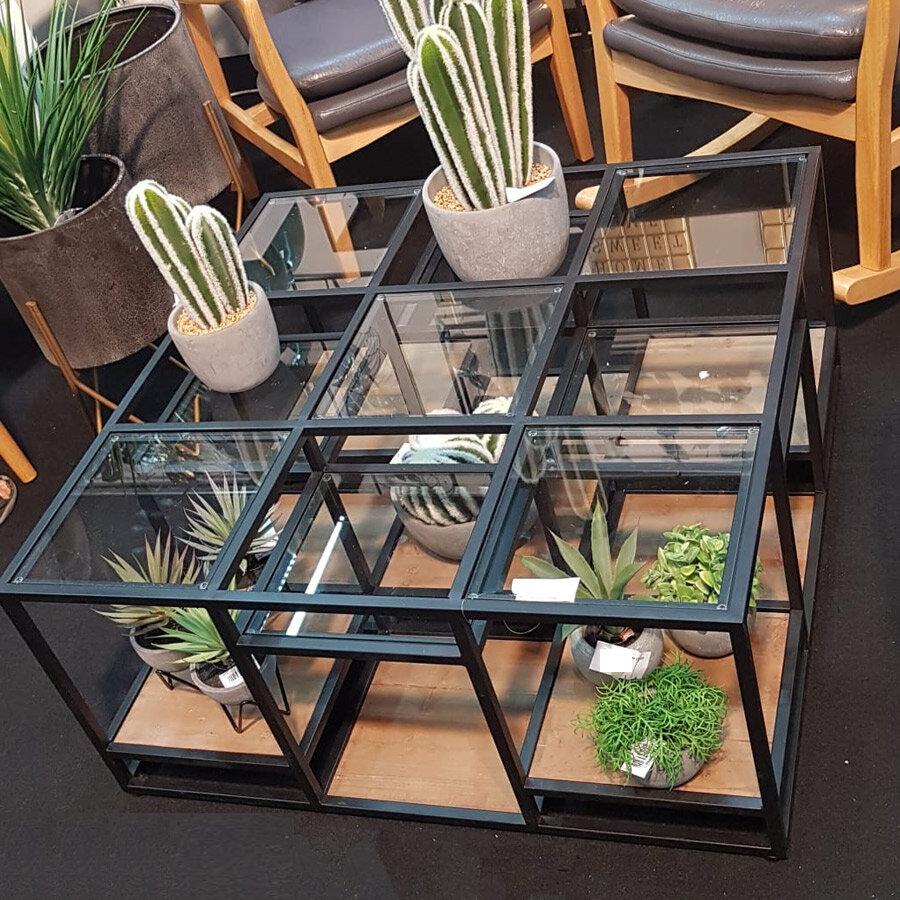 שולחן סלון מעוצב מרובע מרפסות יפות