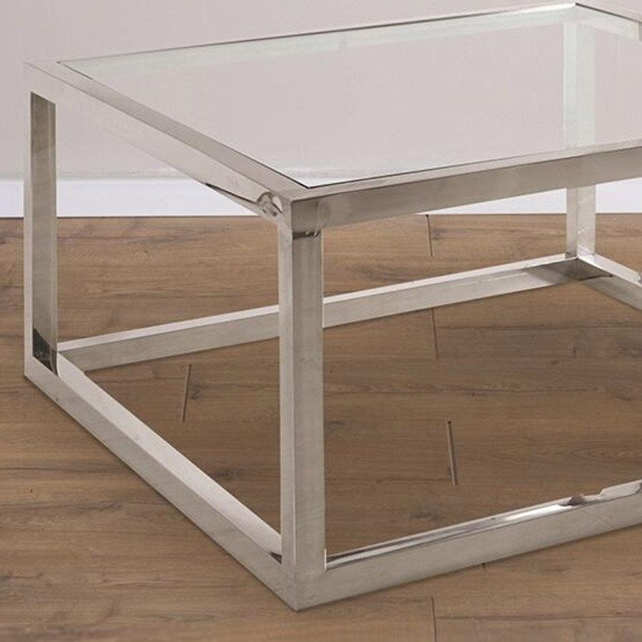 שולחן סלון מעוצב נירוסטה