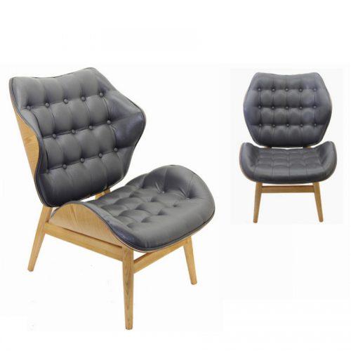 כורסא מעוצבת פנטום אפורה מרפסות יפות