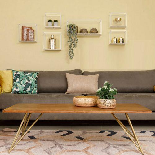 שולחן סלון בליני זהב מרפסות יפות