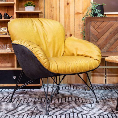 כורסא TULUZ בצבע חרדל