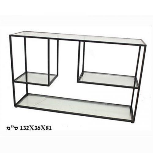 קונסולה-זכוכית-Paphos-שחורה-מרפסות-יפות-SHOPPING-IL