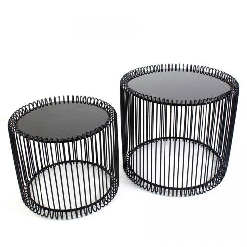 זוג-שולחנות-מעוצבים-לסלון-עגולים-שחורים