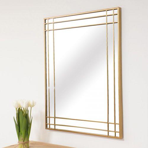 מראה מלבן זהב מרפסות יפות