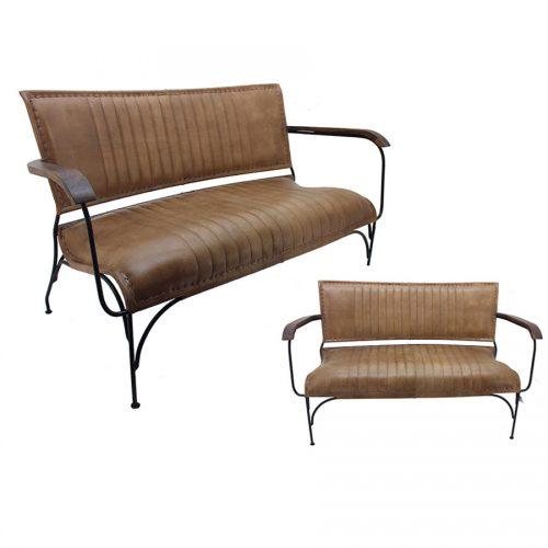 ספסל עור חום איכותי מרפסות יפות