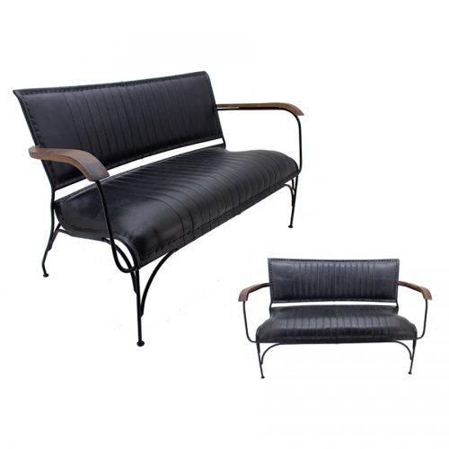 ספסל עור שחור איכותי מרפסות יפות