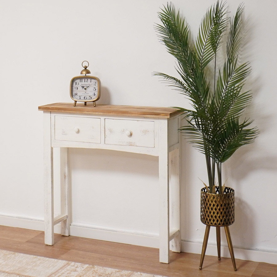 קונסולה צרה מעץ צבע לבן, מרפסות יפות