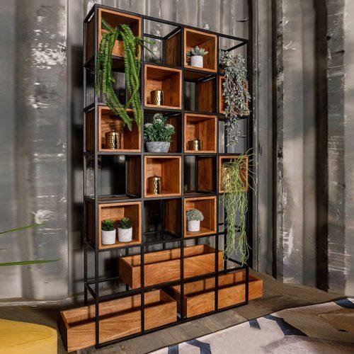 קיר נישות עץ לעיצוב הבית