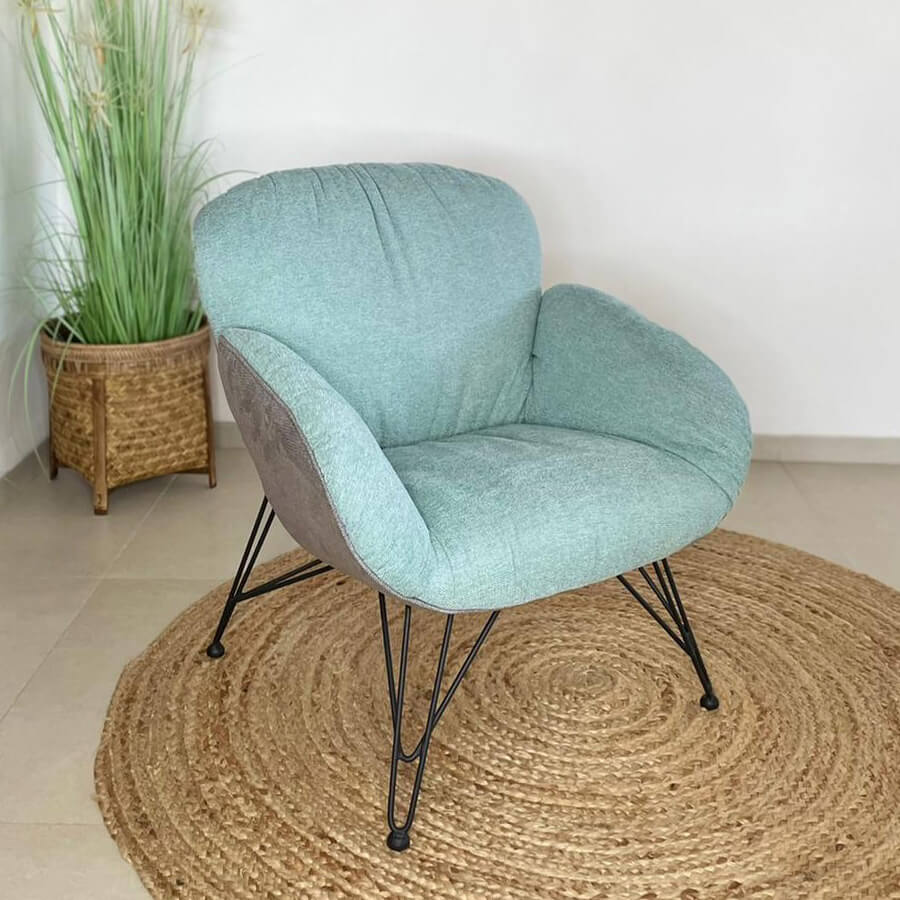 כורסא מעוצבת טולוז תכלת לרכישה במרפסות יפות