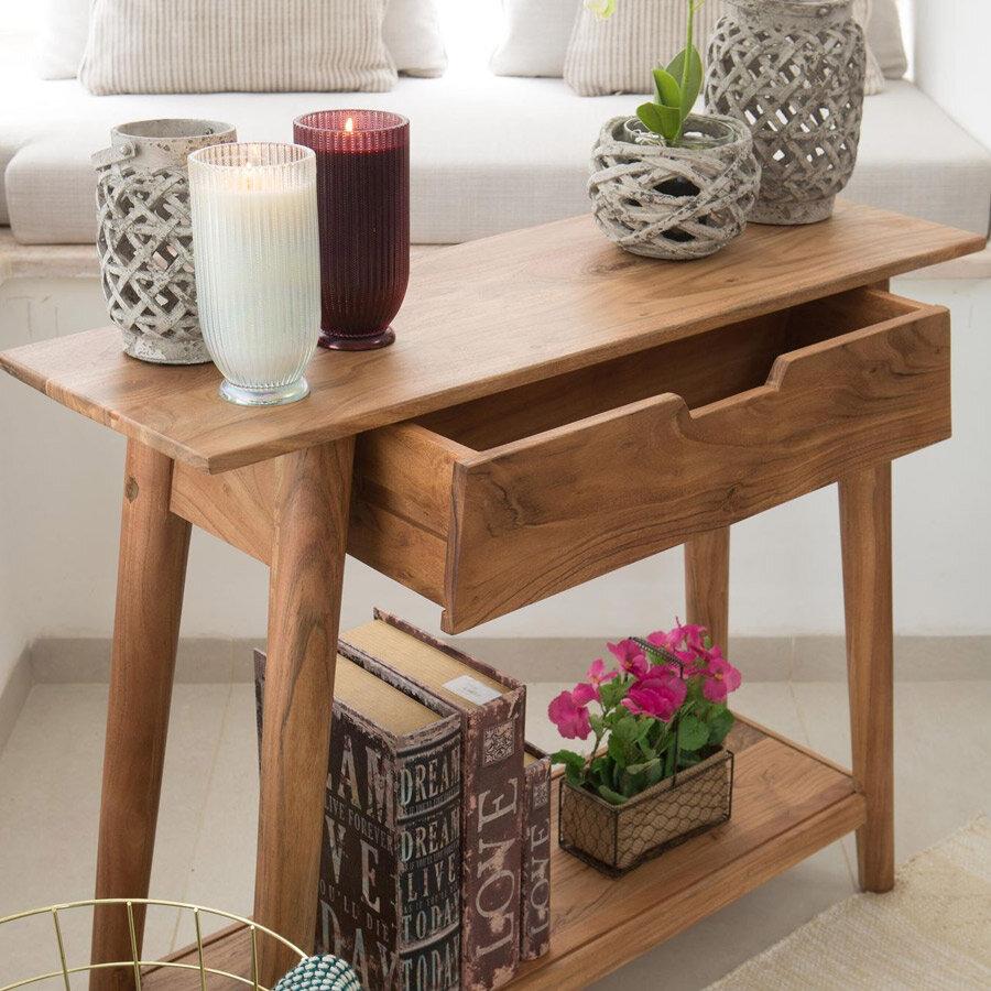 קונסולה מעוצבת מעץ מרסיי מרפסות יפות