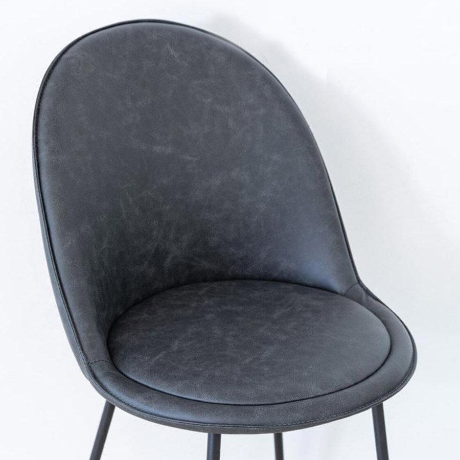 כיסא בר בלגיה אפור PU