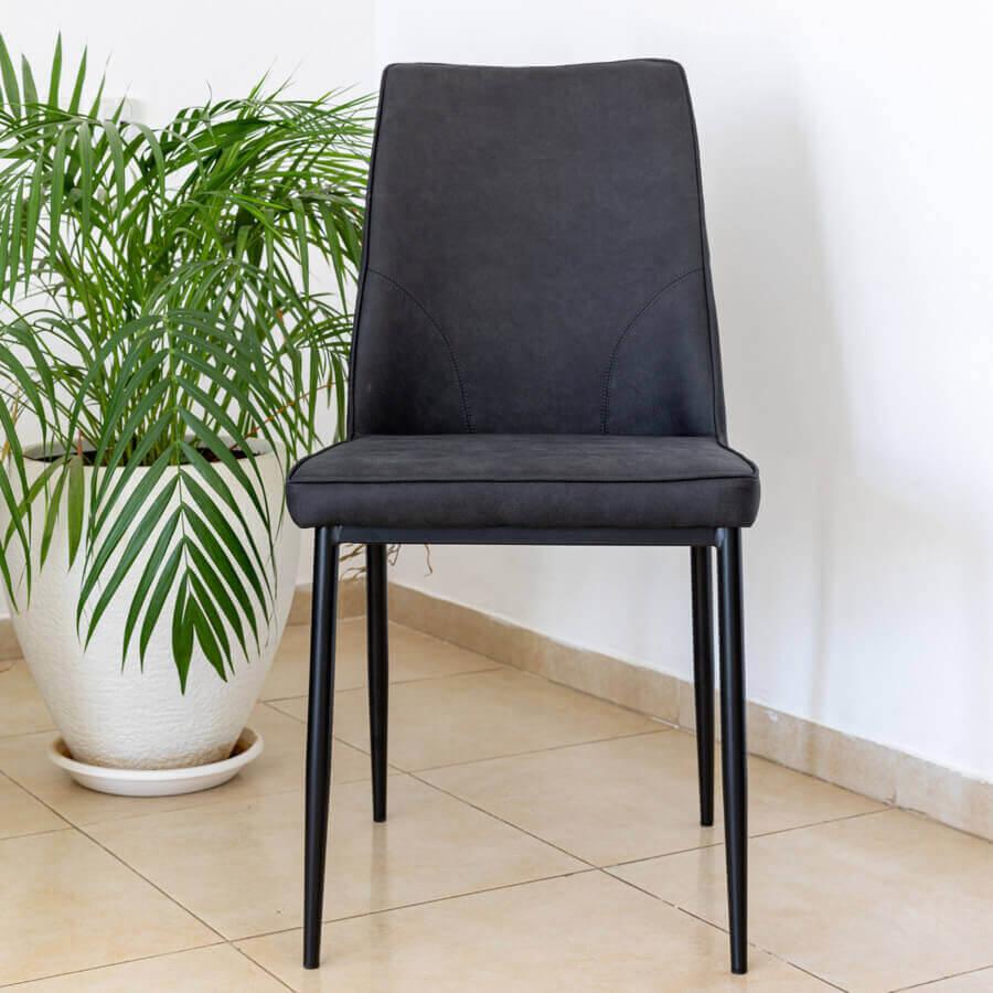 כיסא שחר שחור PU מרפסות יפות