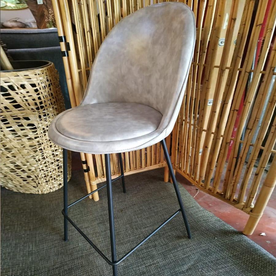 כסא בר בלגיה אפור בהיר מרפסות יפות