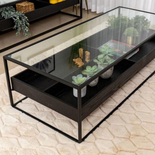 שולחן סלון Almog מלבן שחור