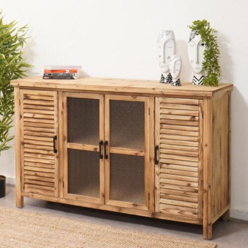 שידת אחסון מעץ טבעי לעיצוב הבית