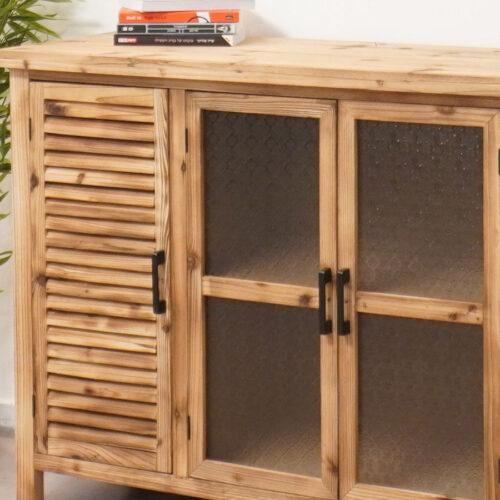 ויטרינה עץ לעיצוב מטבח כפרי