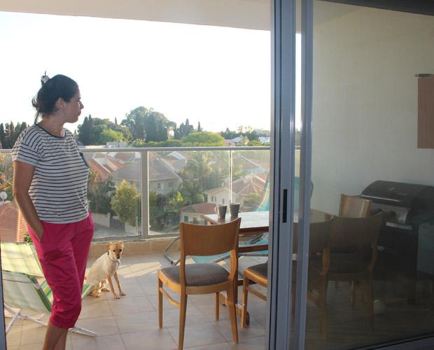 מיכל על נוף המרפסת לפני העיצוב