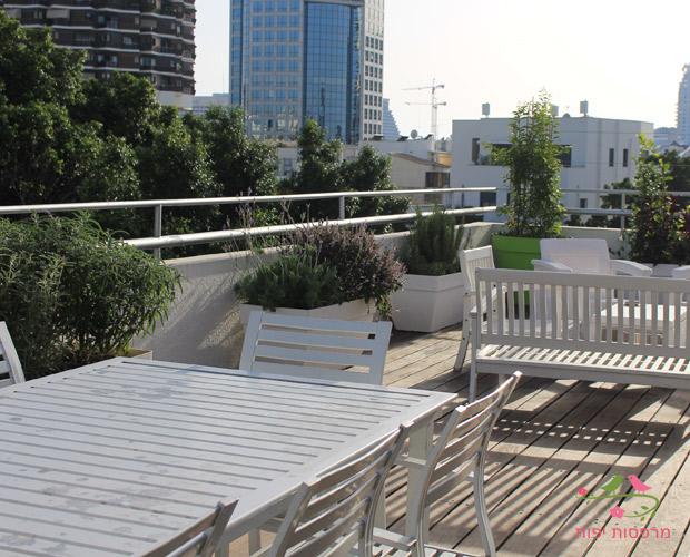 מרפסת גג בתל-אביב אחרי העיצוב