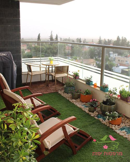 עיצוב גינה במרפסת מרפסות יפות