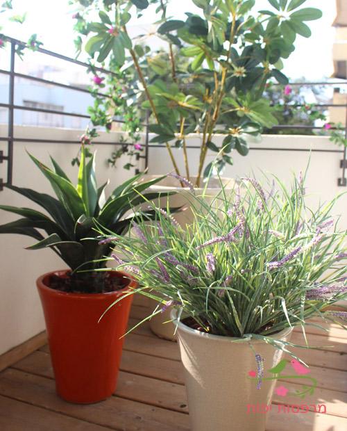 צמחיה מלאכותית בעיצוב מרפסת תל אביבית
