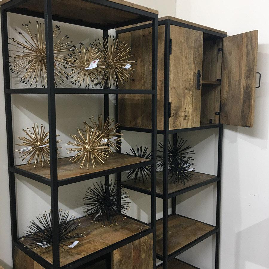 כוננית ספרים עשויה עץ מנגו