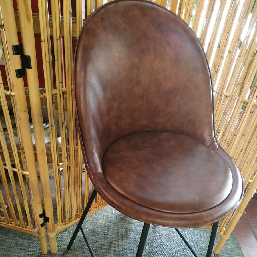 כיסא בר בלגיה חום מרפסות יפות