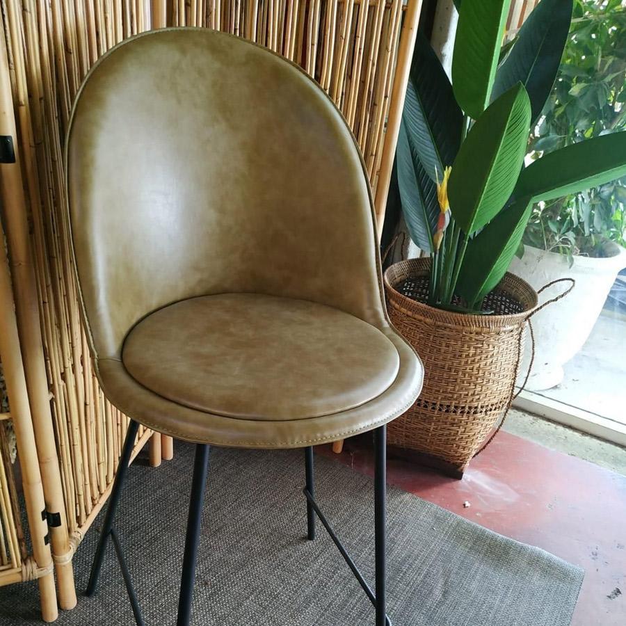 כסא בר בלגיה ירוק מרפסות יפות
