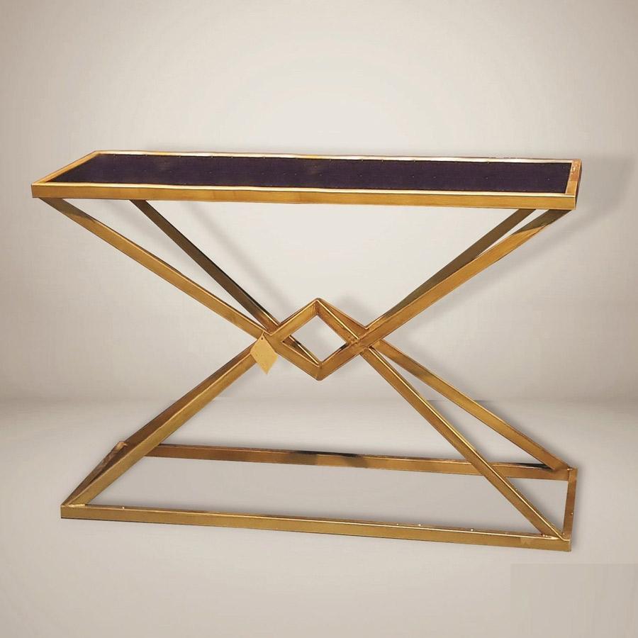 קונסולה triangle מסגרת מתכת זהב מרפסות יפות