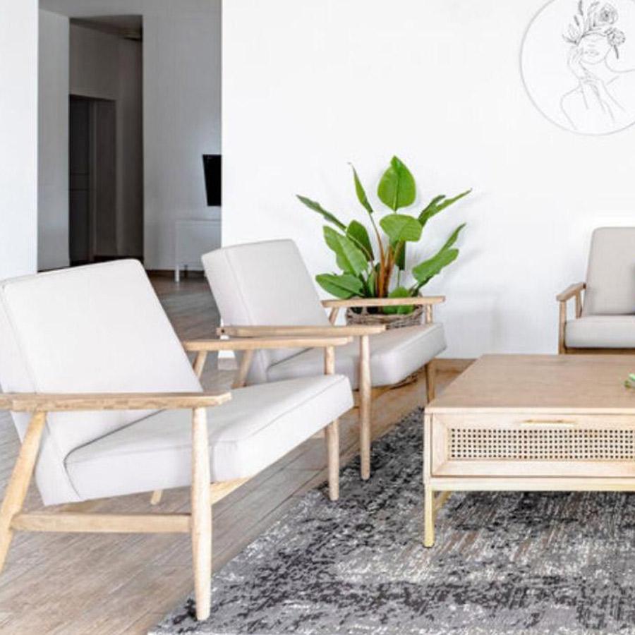 כורסא דגם נגב עשויה עץ לעיצוב הבית מרפסות יפות