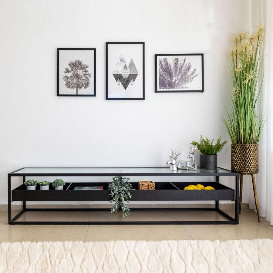 מזנון ALMOG בצבע שחור מרפסות יפות