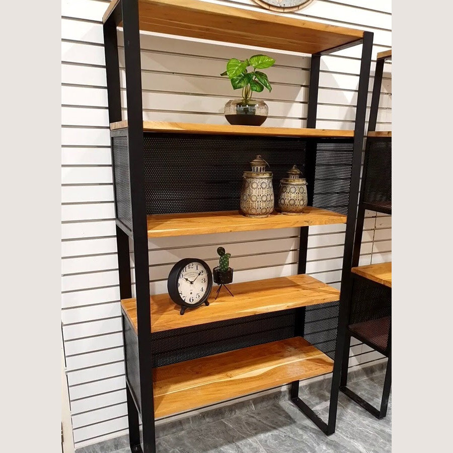 ספריית רשת עץ וברזל מהממת לעיצוב הבית מידה 100