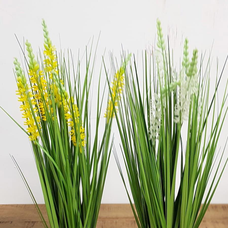 עציץ פרחים צהובים מלאכותי
