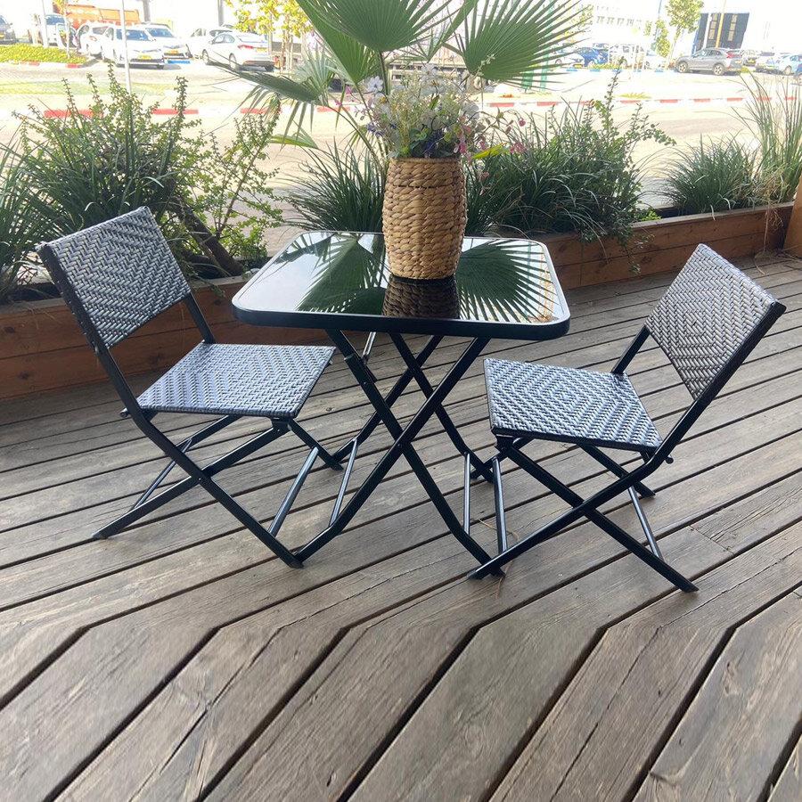 פינת ישיבה זוגית למרפסת לרכישה באתר מרפסות יפות