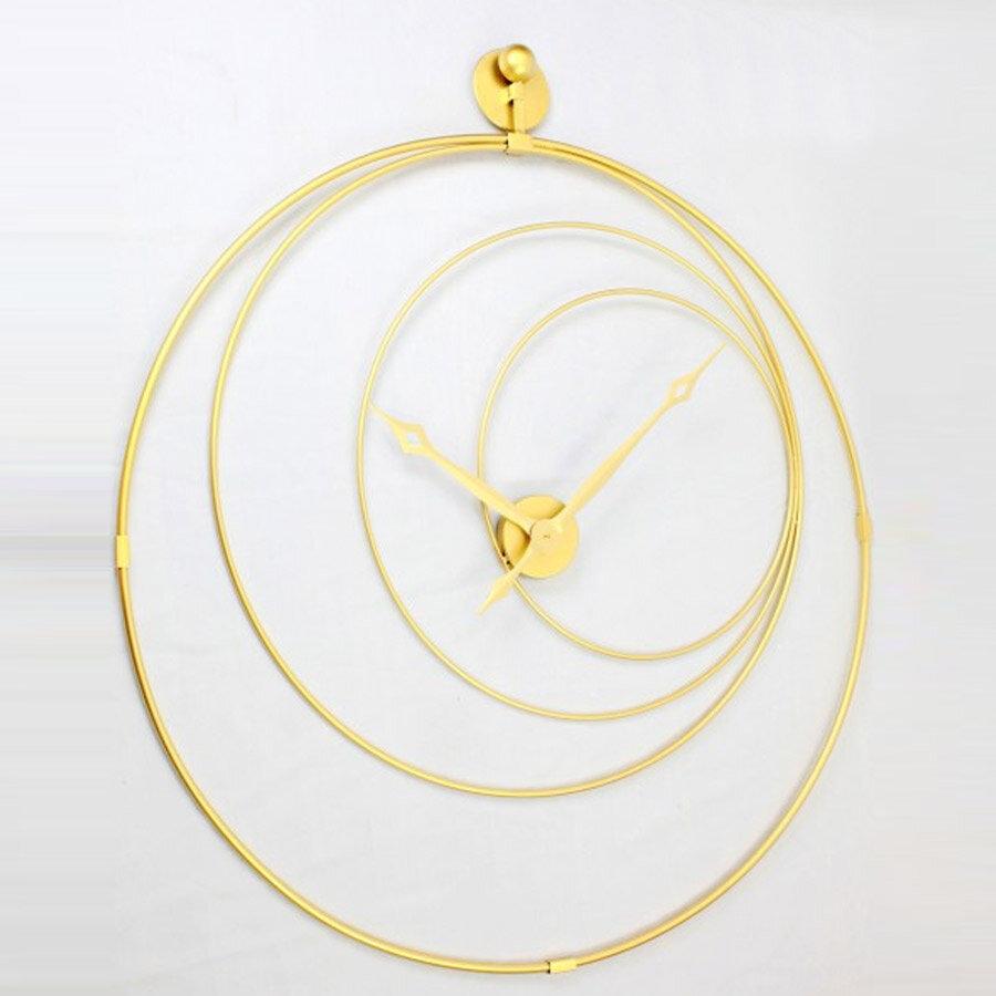 שעון קיר מתכת מעוצב צבע זהב