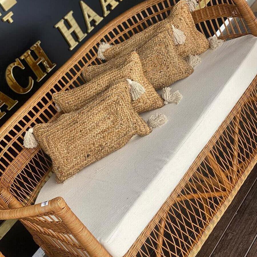 ספה זוגית דגם פנמה עשויה ראטן לרכישה במרפסות יפות