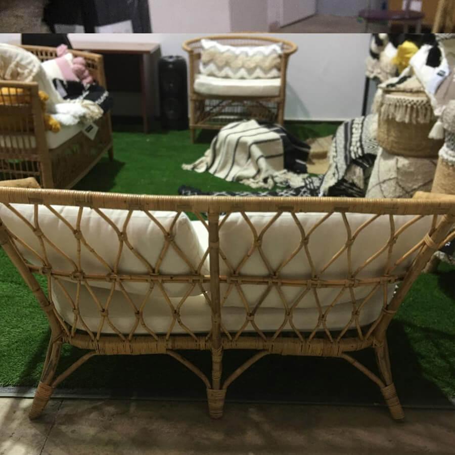 ספה זוגית עיצוב בוהו שיק