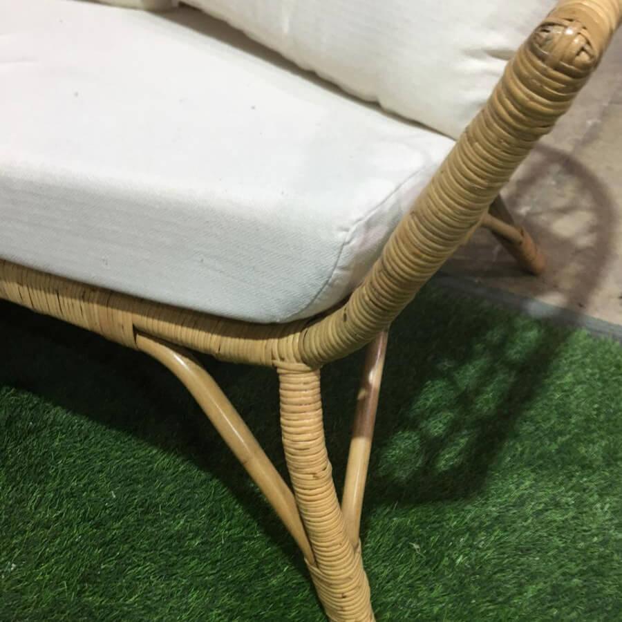 ספת רטן בשילוב במבוק עבודת יד