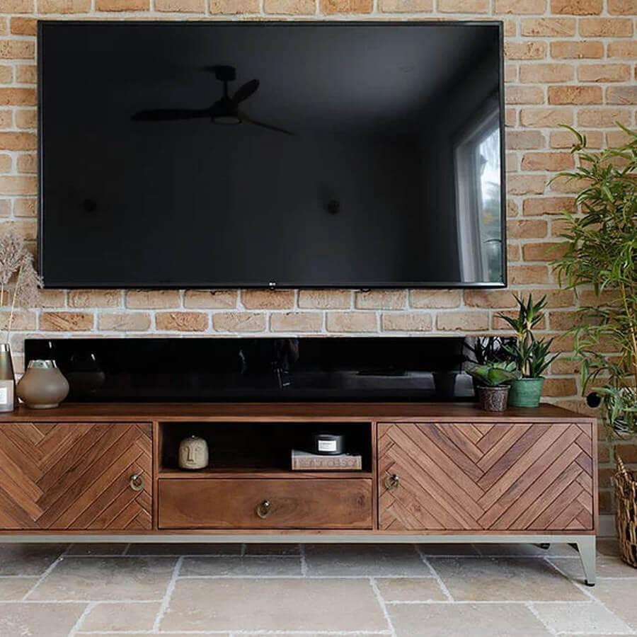 מזנון טלוויזיה פישבון רגליים זהב לרכישה במרפסות יפות